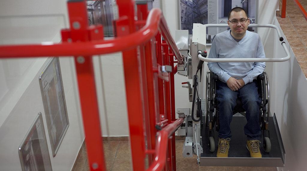Plattform-Treppenlift Lehner Stratos